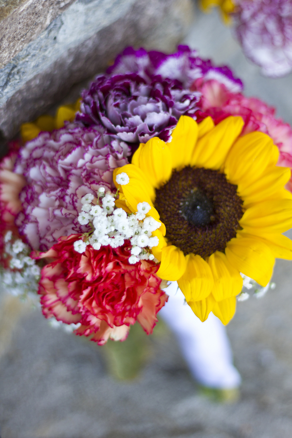 Capitol Inspiration Hot Pink  Sunflowers Wedding