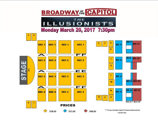 Seating Chart Capitol Theatre Clearwater Fl Year Of Clean