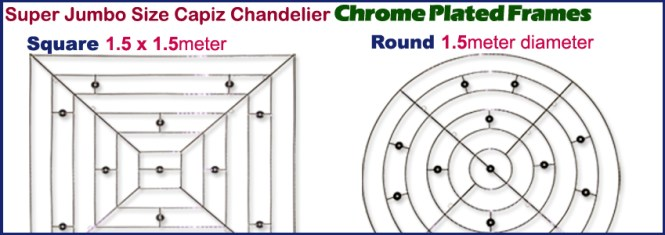 1x1 Chrome Plated Metal Frames For Chandelier