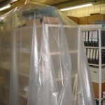 Thicker, transparent (non-carbon filled) 4mil (0.1mm) plastic sheeting