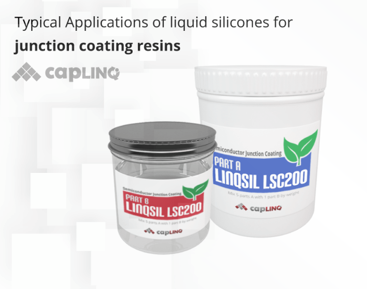 Silicone for junction coating resins