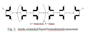 imide-extended liquid bismaleimide monomer