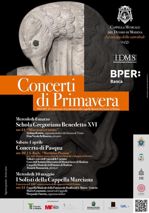 Locandina concerto Modena 2017