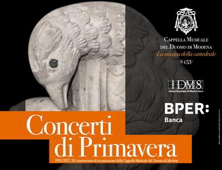 Locandina concerto primavera Modena 2017