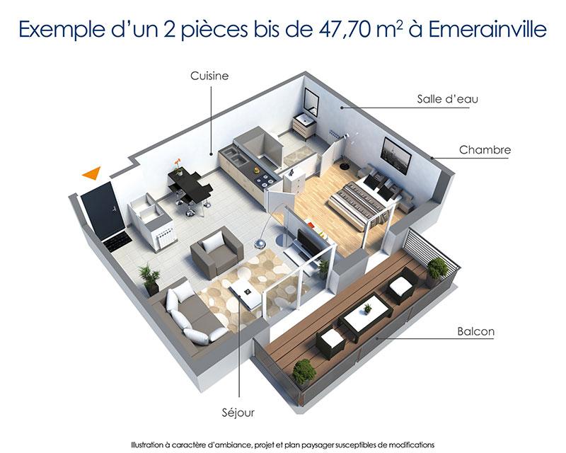 A moins de 20 km de Paris  Emerainville investir dans un T3 en Rsidence avec Services pour