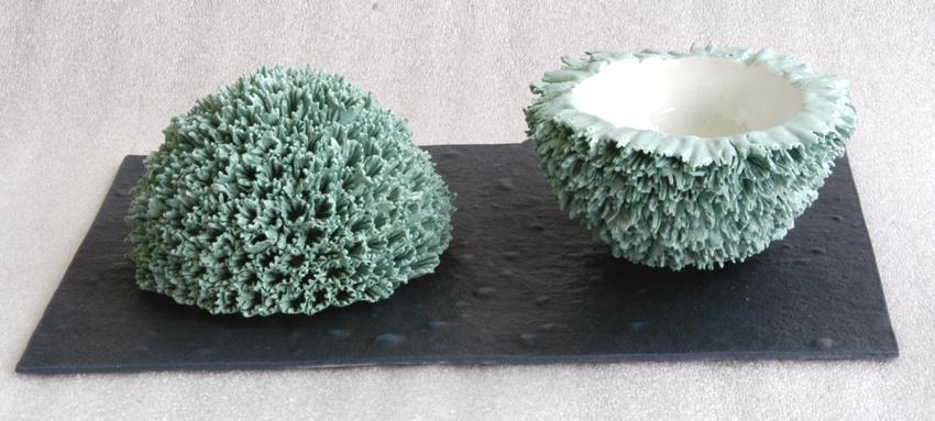 bol corail  porcelaine papier