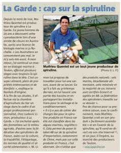 Read more about the article Producteur à La Garde, Cap sur la Spiruline !