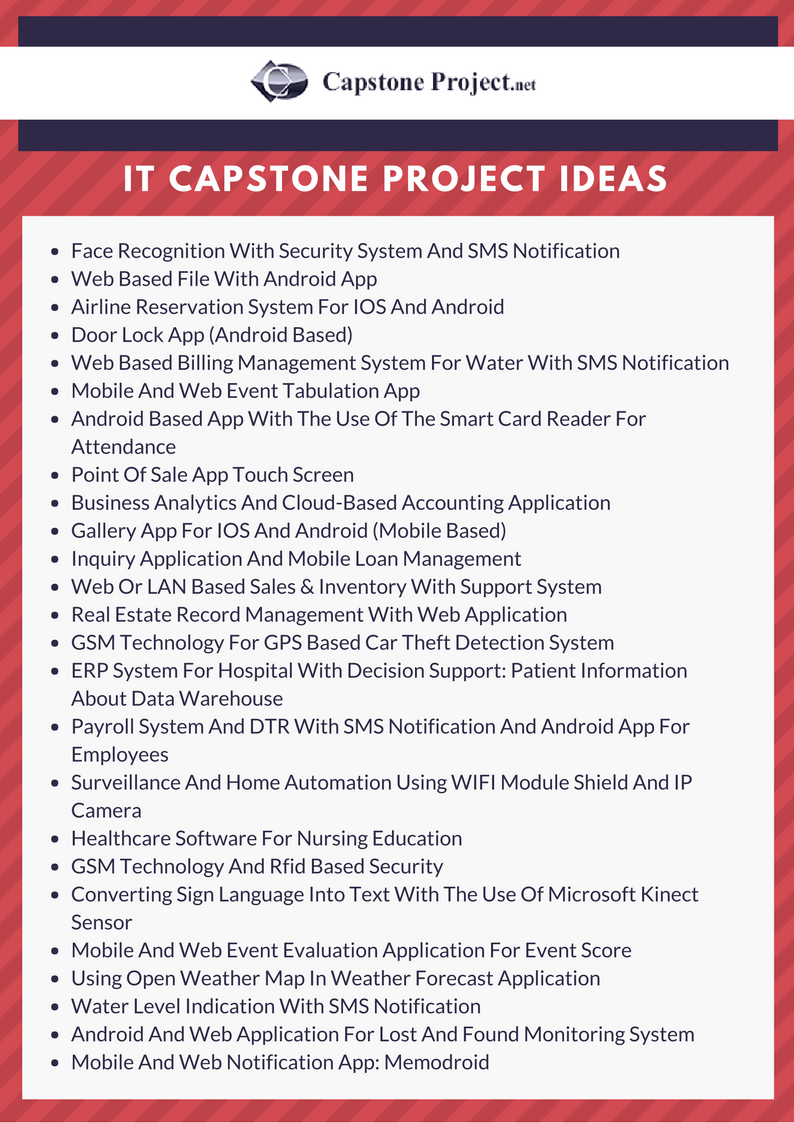 500 Best Capstone Project Ideas In 2018 Free Samples