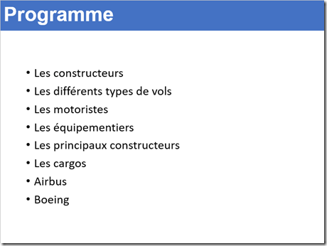 Le programme de formation mes documents efficaces
