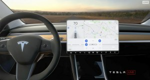 Cockpit vom Tesla Model 3