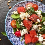 watermelon spinach salad