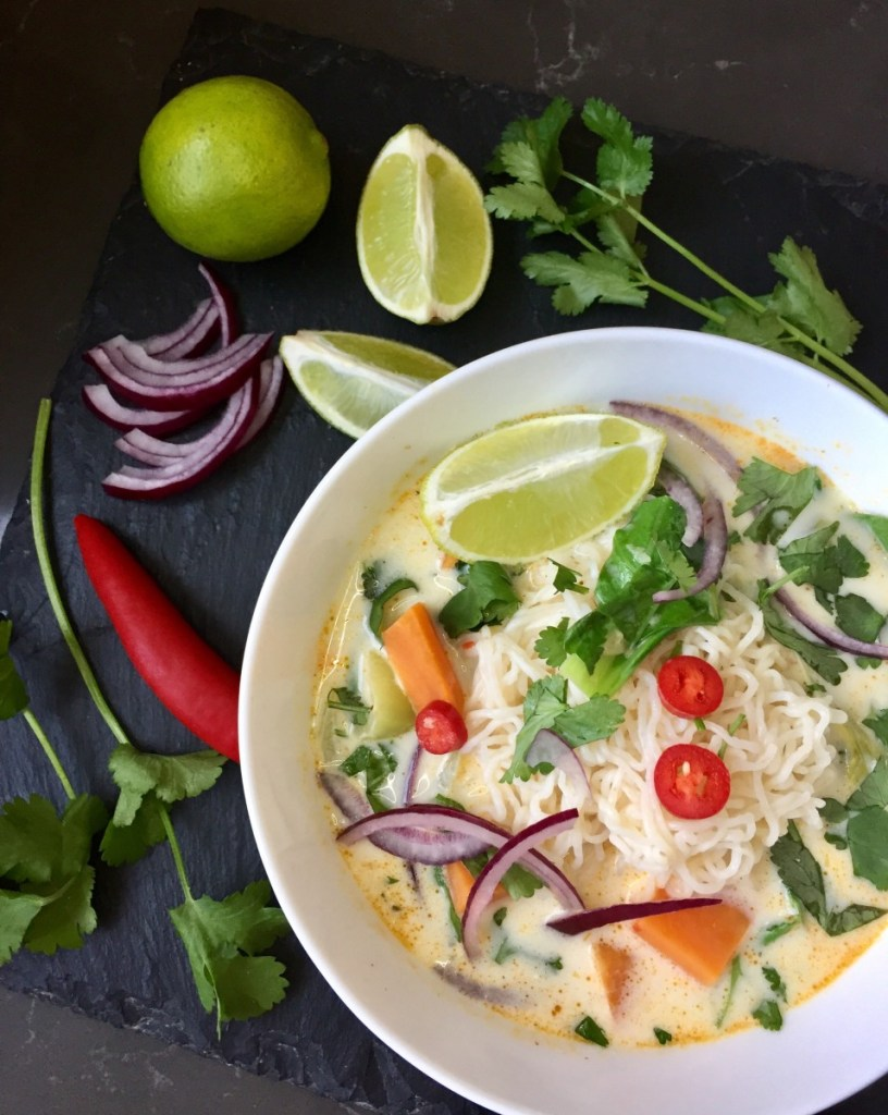 Thai vegan curry konjac noodles
