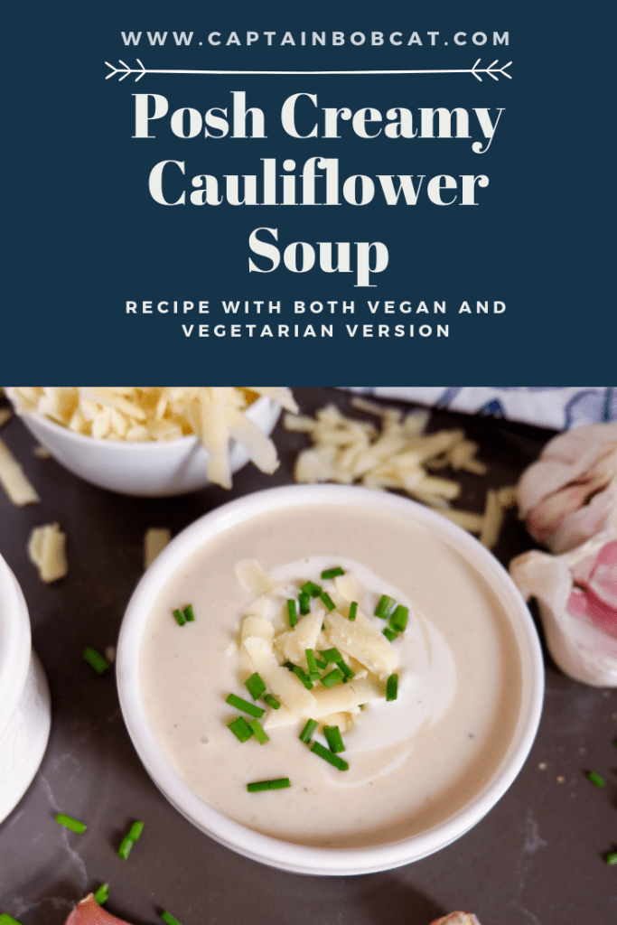 Posh Creamy Cauliflower Soup With Truffle Oil (Vegan)