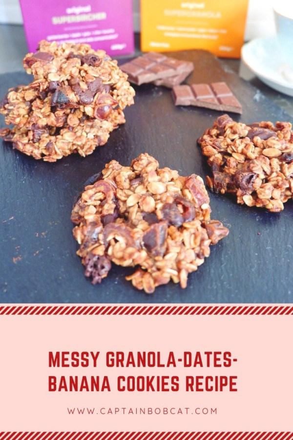 Messy Granola-Dates-Banana Cookies Recipe (Vegan and Gluten Free)