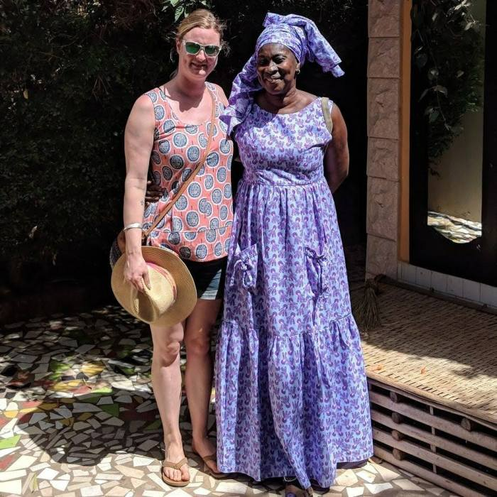 UK Project Leader Cath Harris with Gambian Project Leader Ida Cham