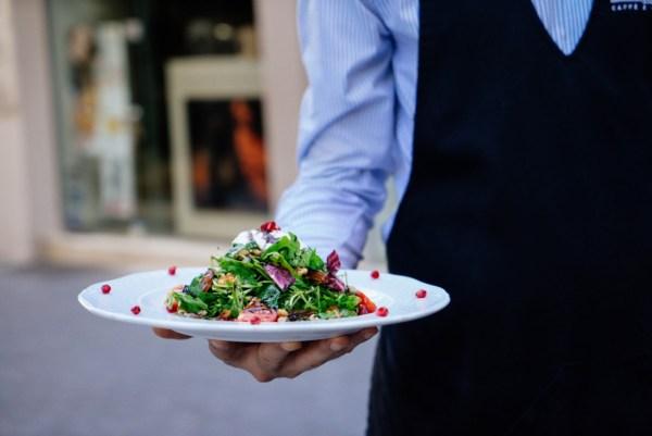 waiter food restaurant