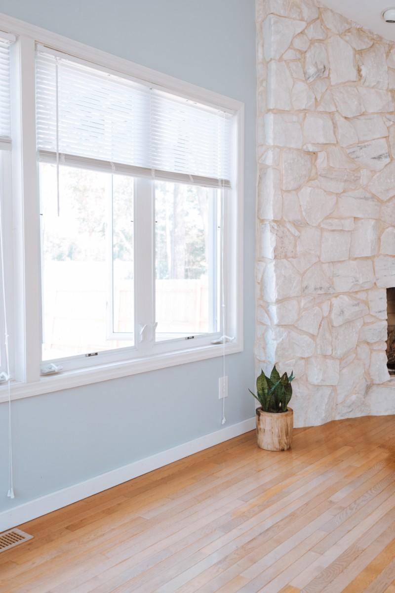 window brick wall room