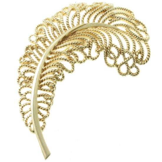 Trifari-Ostrich-Feather-Brooch