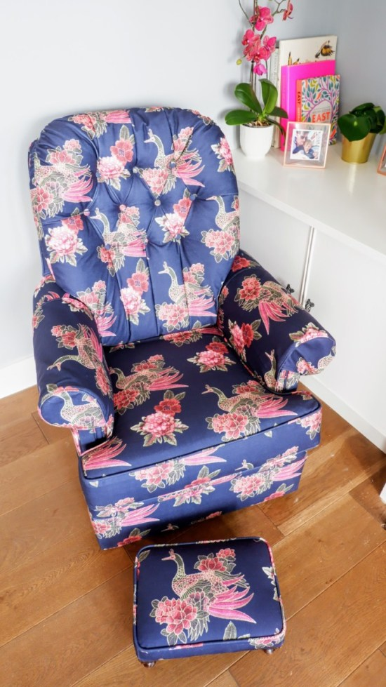 upholstered armchair: upcycle instead of buying new
