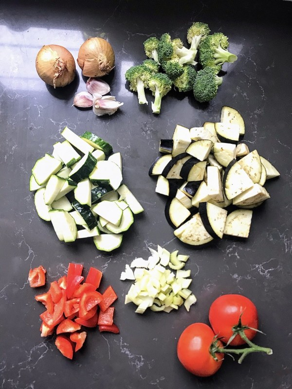 6 vegetable pasta sauce