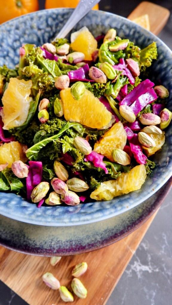 orange and kale salad