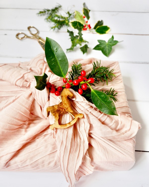 Christmas wrapping. wrap Christmas presents