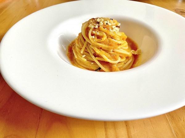 Spaghetti With Creamy Butternut Squash sauce