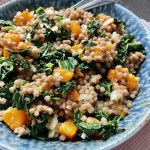 Wholemeal Couc Cous With Roasted Butternut Squash and Kale