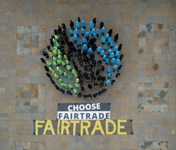 Fairtrade t-shirts sign