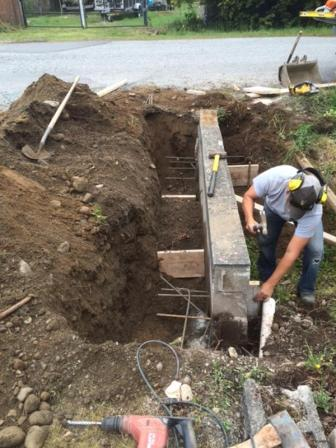 Retaining wall repair in Surrey BC