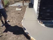 Home concrete pathway