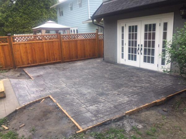 Rough Cut Ashlar Stamped Concrete