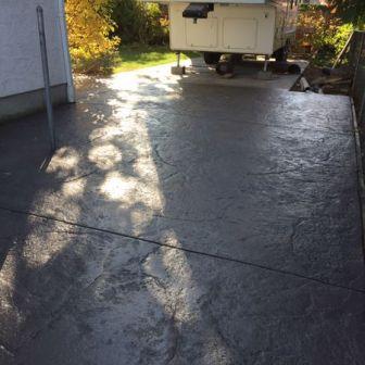 Granite Stamped Concrete Driveway