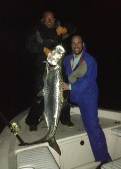 Nightime tarpon fishing