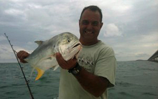 Tarpon fishing in Marathon yielded this big jack.