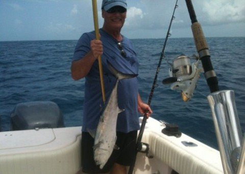 Bonita caught on a yellowtail snapper charter