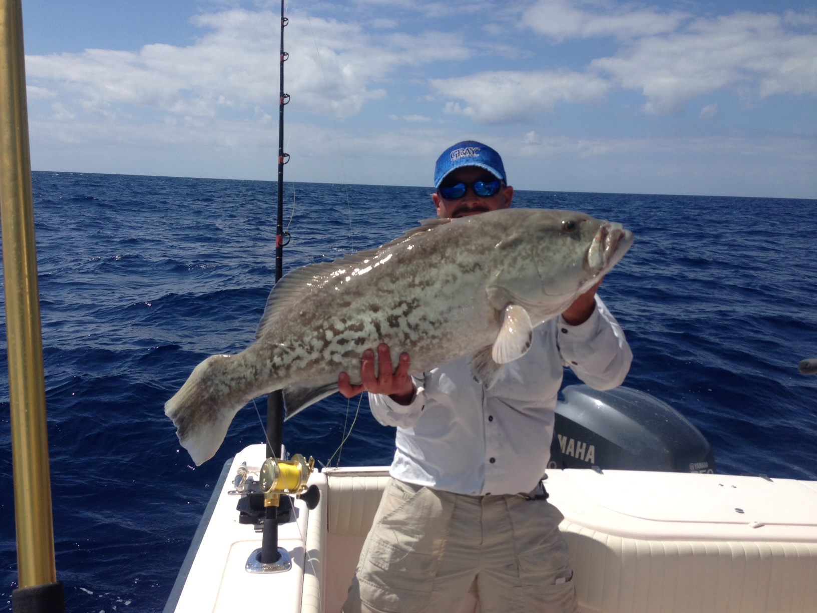 Large gag grouper caught off Marathon in the Fl Keys on a 3/4 day charter.