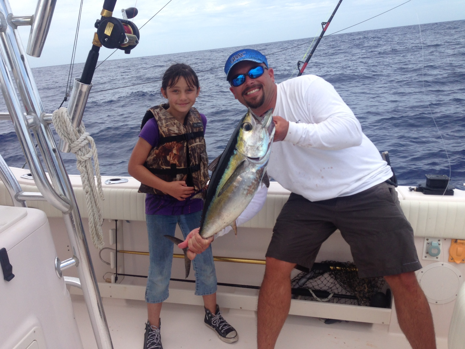 Blackfin tuna are biting at the hump off Marathon in the Fl Keys. Make sure to ask Capt. Doug about a special tuna charter.