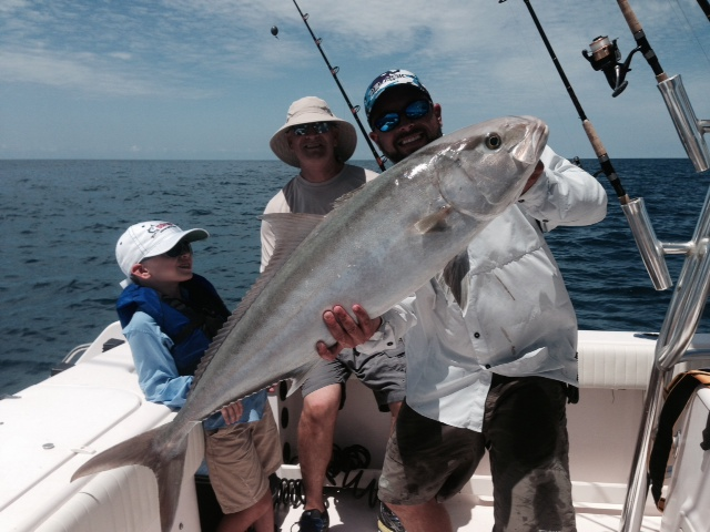 Big amberjacks are thick on the wrecks off Marathon. Come book a fishing charter with Capt. Doug and let him put you on one.
