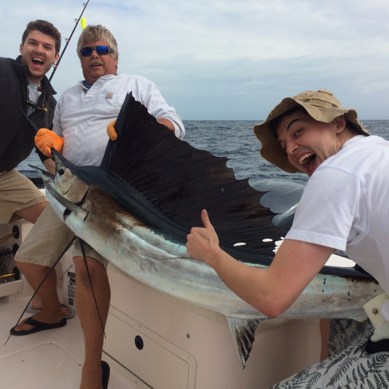 Sailfish are biting off Marathon, come book your fishing charter with Capt. Doug and get one for yourself.