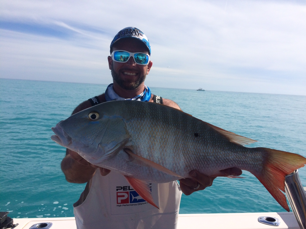 We got this fat mutton snapper on a reef and wreck charter off Marathon in the Fl Keys.