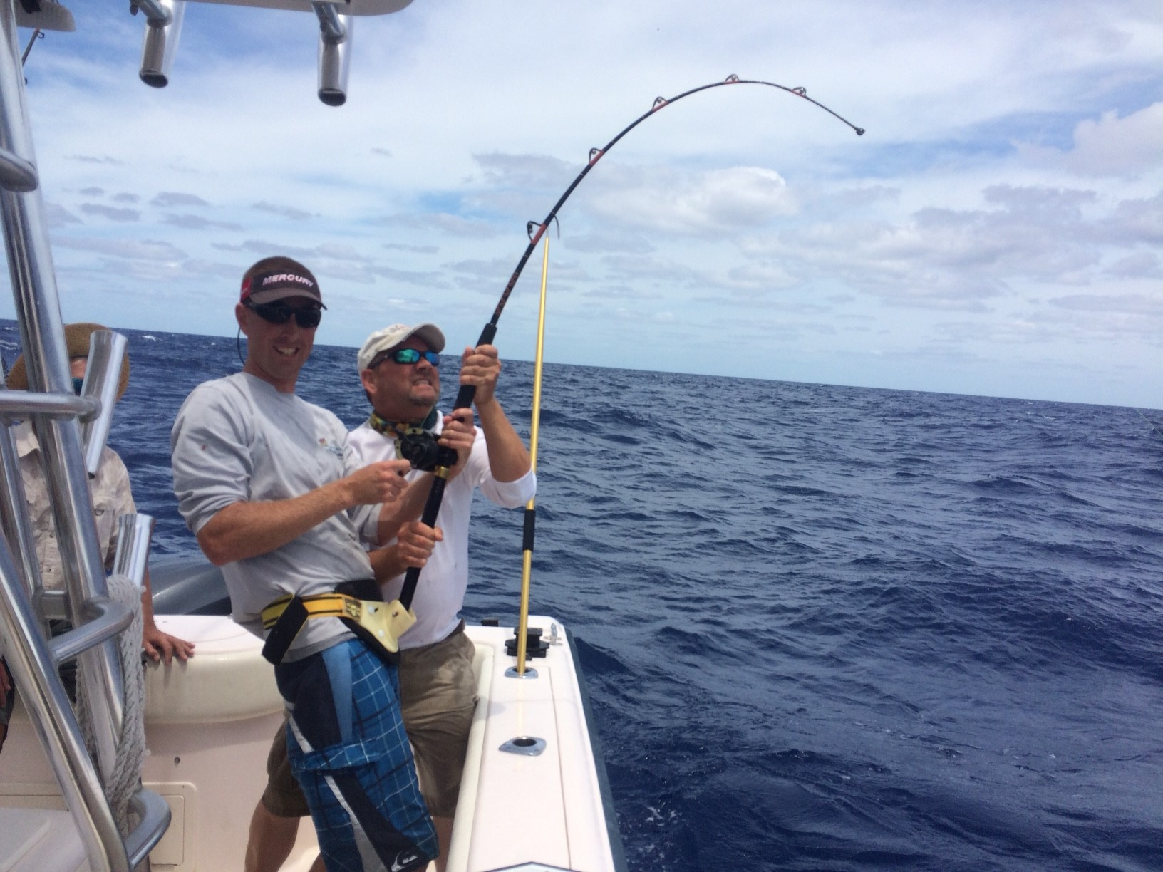 Even both of these guys have their hands full charter fishing with Capt. Doug off Marathon in the Fl Keys.