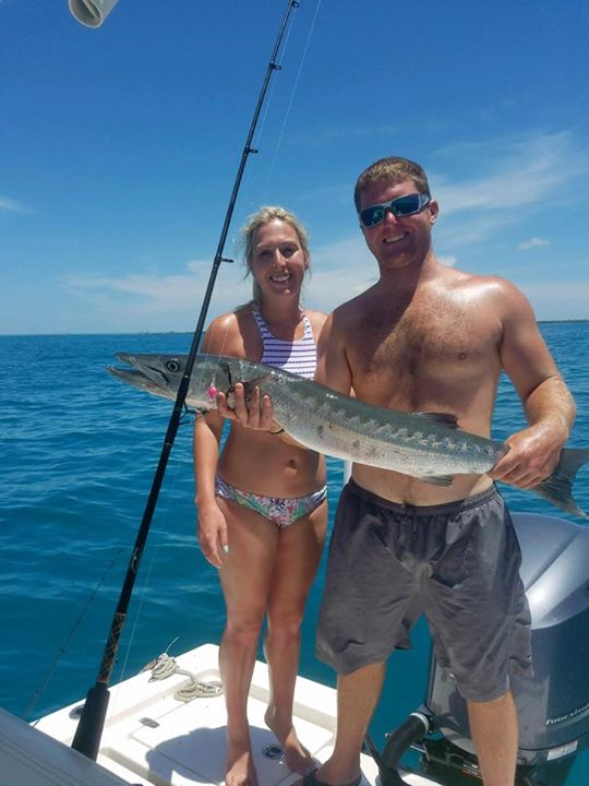 Barracuda we caught in the bay today on one of our charters. Still have a few sl…