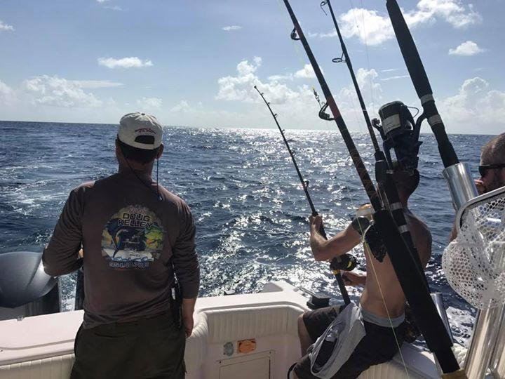 Action shot from today's offshore charter. Lots of action but seems most of the …