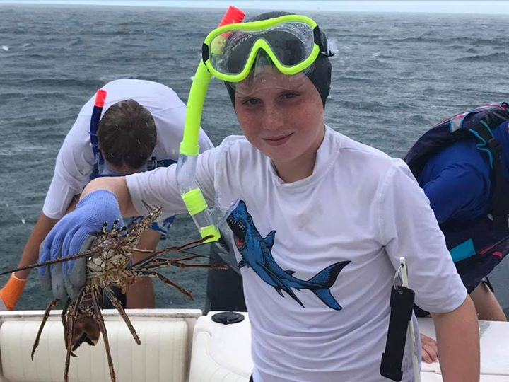 We got lobsters today guys!! These kids are great.