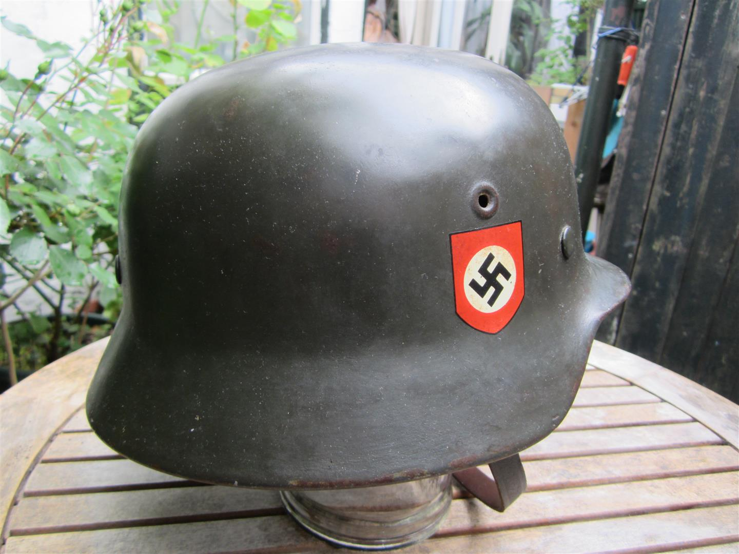 Captain Jacks Militaria  WW2 German M40 SS Polizei Helmet