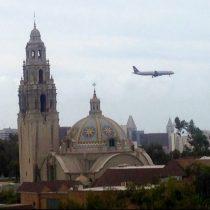 A320 over San Diego
