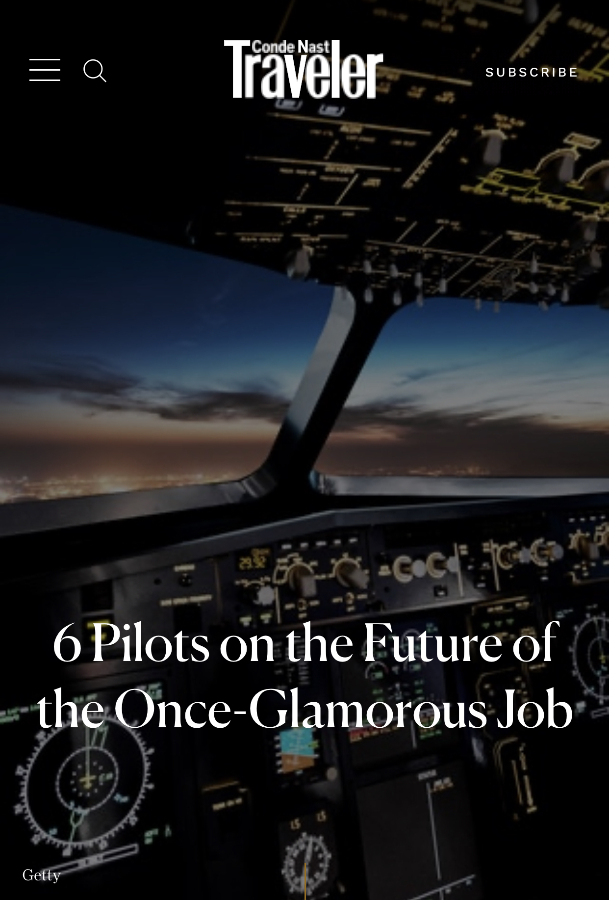 What Pilots Have to Say – Conde Nast Traveler