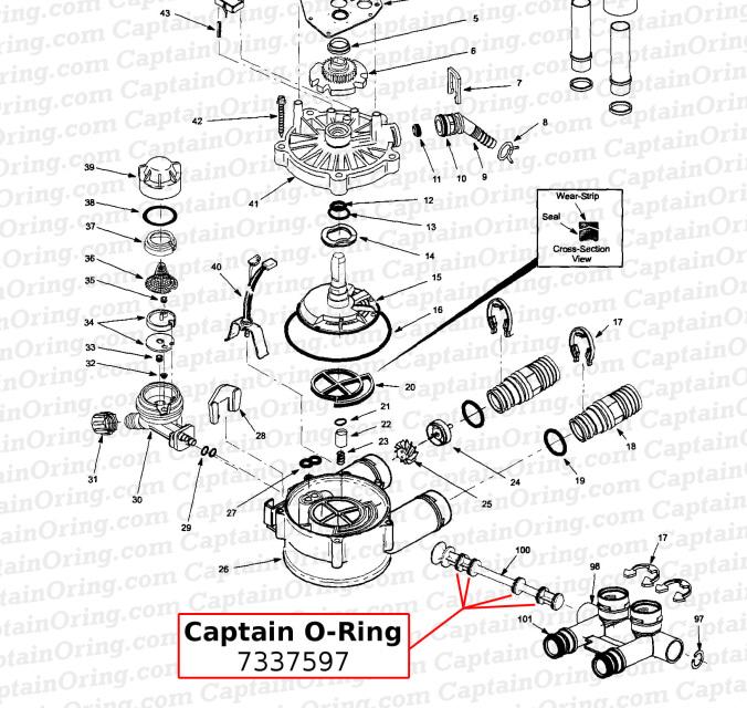 Water Softener O-Ring Seal Kit 7337597