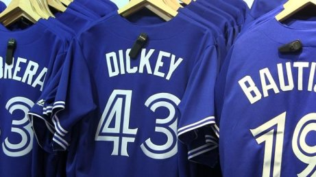 Blue Jays fans have plenty of choices when it comes to buying a new jersey. (Photo: Yahoo! Canada)